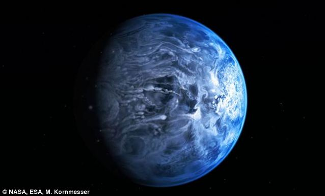 alien blue planet detected by hubble telescope
