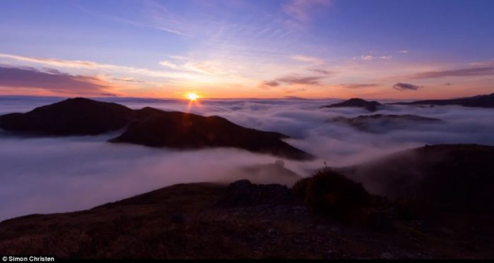 fog over san francisco at sunrize: timelapse and beautiful pictures, adrift: mesmerizing video of foggy San Francisco, amazing photo and video of foggy san francisco and iconic golden gate bridge