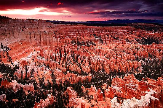 bryce canyon sunset, photo bryce canyon sunset