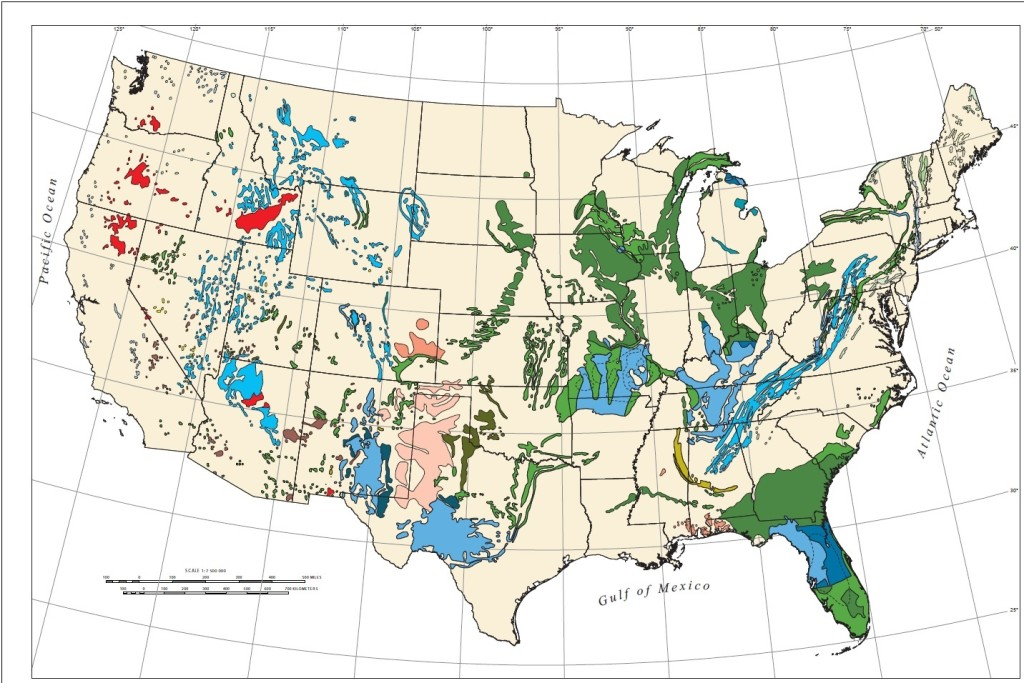 US Sinkhole Map Map Of Sinkholes In The US - Us fracking map 2016