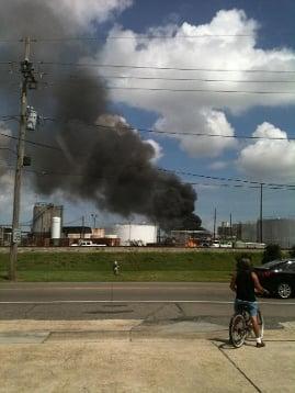Harvey explosion louisiana chemical plant