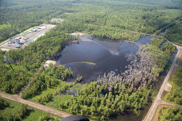 louisiana sinkhole in bayou corne