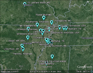 Large meteor sightings over Memphis tennessee and loud booms in Missouri: TN AR MO MS Daytime Bolide