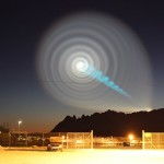 strange sky phenomenon: sky spiral in Norway