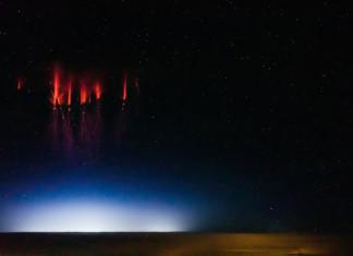 red sprites, red sprites photo, red sprites lightning, red sprites phenomenon, mysterious red sprites phenomena, red sprites space weather phenomenon, sprites photo and video, Red sprites over Nebraska, August 12, 2013 by Jason Ahrns