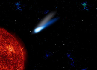 sun diving comet, Comet smashing into the sun, Comet smashing into the sun video, video of Comet smashing into the sun, Comet smashing into the sun may have triggered solar storm, can comet trigger solar storm,comet smashing with the sun, sun explodes in comet, comet explodes in sun,