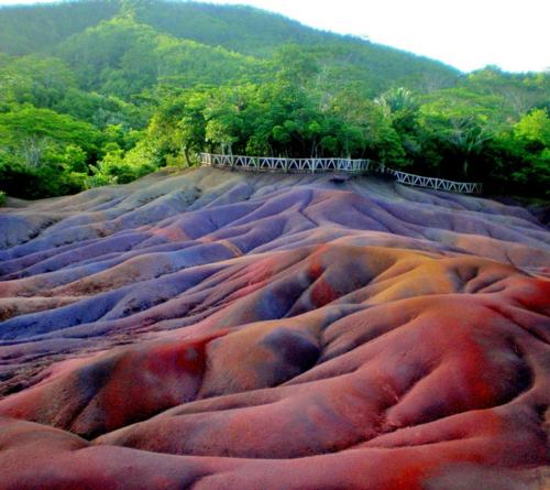 geological oddity: Coloured Earths on mauritius, strange earth oddity, geological oddity, strange earth phenomenon, colored earth, the seven colored earth on mauritius, mauritiusisland geological highlights, amazing geology, amazing geological phenomenon, curious geology, weird geology