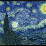van gogh starry night  are ufos