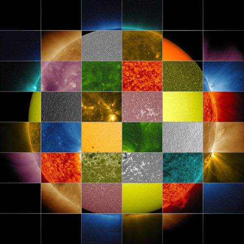 how sun works, study the sun according to its wavelength color, study the sun according to its colors, The sun now: solar color palette, The sun now solar color palette, Why NASA Scientists Observe the Sun in Different Wavelengths?, Why Scientists Observe the Sun in Different Wavelengths? sun different wavelength color, sun wavelength color, different sun color under different wavelength, sun has different colors when observed at different wavelength, Our Sun is the best sun, our sun is the best star, color of sun, what does mean the different color of the sun, astrophysics, Solar Dynamics Observatory (SDO), This collage of solar images from NASA Solar Dynamics Observatory (SDO) shows how observations of the sun in different wavelengths helps highlight different aspects of the sun surface and atmosphere, Decode the solar rainbow palette: Each wavelength tells scientists different things about solar physics