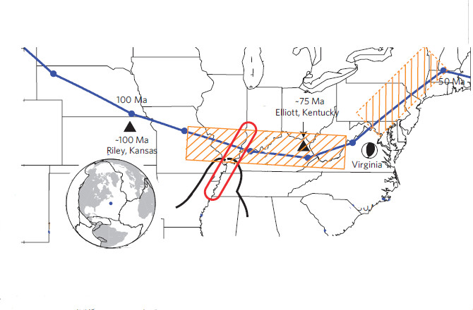 Scientists Discover Hotspot Track Cross-Cutting the New Madrid Seismic Zone, hotspot new madrid seismic zone, hotspot across new madrid