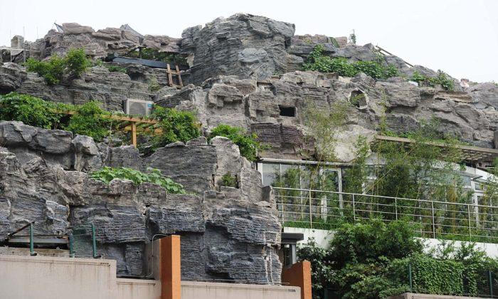 beijing Rocky style villa on the roof of a scyscaper