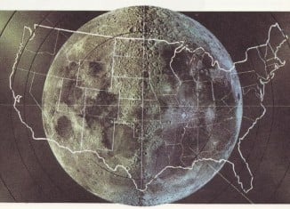 how big is the moon, size of moon, moon size, How Big Is The Moon Compared To The Continental US?, Size of the Moon, dimension of the moon, facts about the moon, An image comparing the size of the moon and that of the continental US