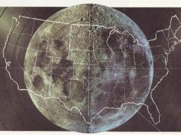 size moon compared to USA, The size of the Moon compared to USA, size moon, size moon usa map, map compares size moon and usa
