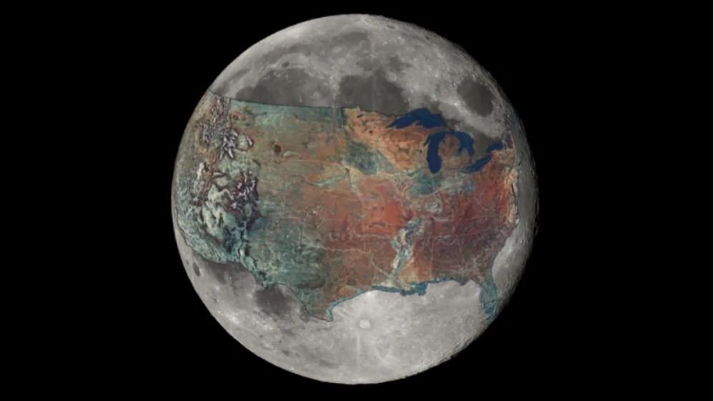 size of moon compared to usa, size of moon compared to continental us, size of moon compared to usa map, map usa moon