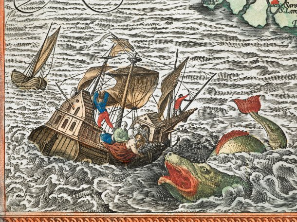 sea monster, sea monster ancient maps, sea monster imagination, sea monster compilation, medieval sea monster, The Enchanting Sea Monsters on Medieval Maps, The sea monsters that populated European medieval and renaissance imaginations  Read more: http://blogs.smithsonianmag.com/artscience/2013/10/the-enchanting-sea-monsters-on-medieval-maps/#ixzz2icrpZ2mN  Follow us: @SmithsonianMag on Twitter, medieval underwater creature, underwater creature, sea monster map, sea monster drawing, sea monster ancient map, ancient sea monster photo, Sea monster and Jonah. Underwater creatures at medieval times