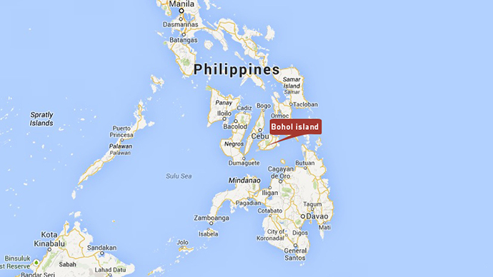 map of philippines earthquake october 15 2013, location philippines earthquake october 15 2013, Location of the Philippines earthquake on October 15 2013