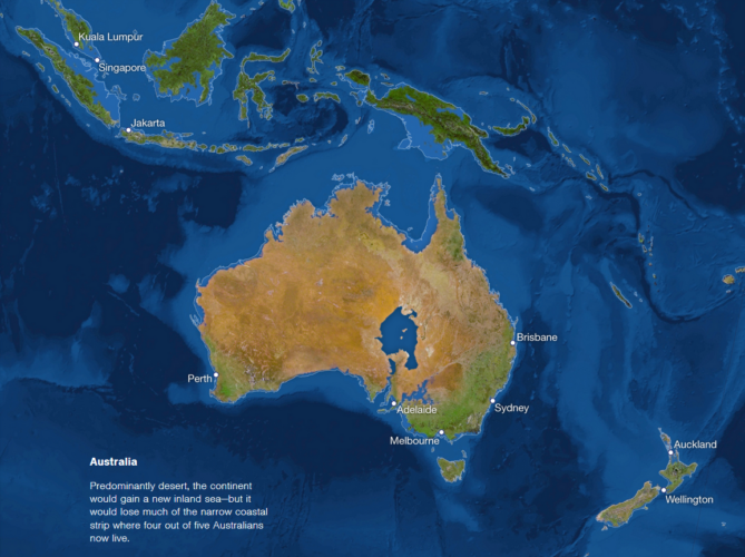 rising sea map australia, rising sea map new zealand, rising sea papua, Map of sea level rise: Oceania, Australian and NZ cities threatened by sea level rise, map of Australian and NZ cities threatened by sea level rise, map of sea level rise in Oceania, Oceanian map of sea level rise, sea ice melting map: Oceania, cities in Oceania threatened by sea level rise map, rising sea, rising sea Oceania, Oceania rising sea map, map of rising sea in Oceania