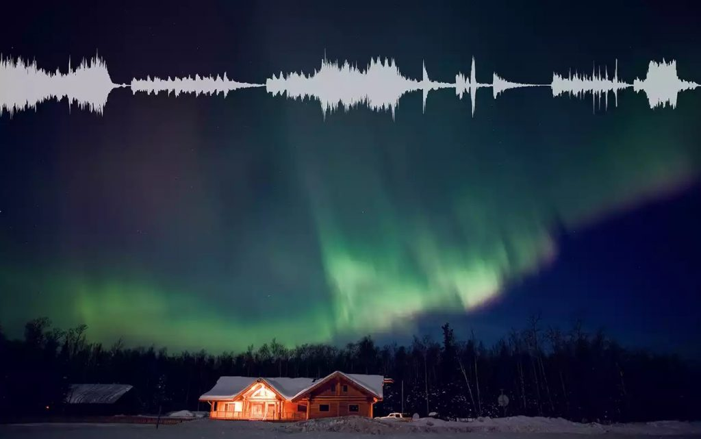 aurora sounds, northern lights sound, aurora sound video, northern lights sound video