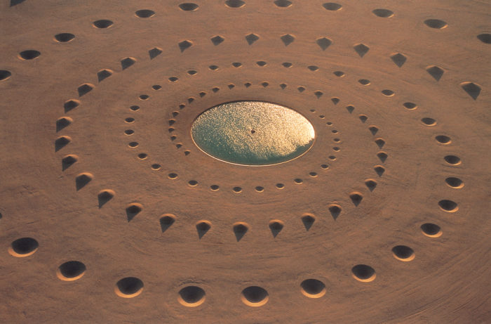 'Desert Breath', Desert Breath, art in desert, desert breath egypt, desert breath sahara desert, desert breath photo, desert breath video, desert breath pics,, Desert Breathe: what are these mysterious cones in the Egytian desert, desert breath from Stratou, besert breathe by Stratou, earthwork by stratou, video of mysterious cones in egyption desert, Desert Breath: Mysterious cones surround pool of water in Egytian desert