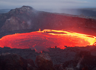 Kilauea volcano in Hawaii, Mesmerizing Lava Lake Movement Revealed in Time-Lapse Video, lava lake movement video, Kilauea volcano in Hawaii lava lake movement