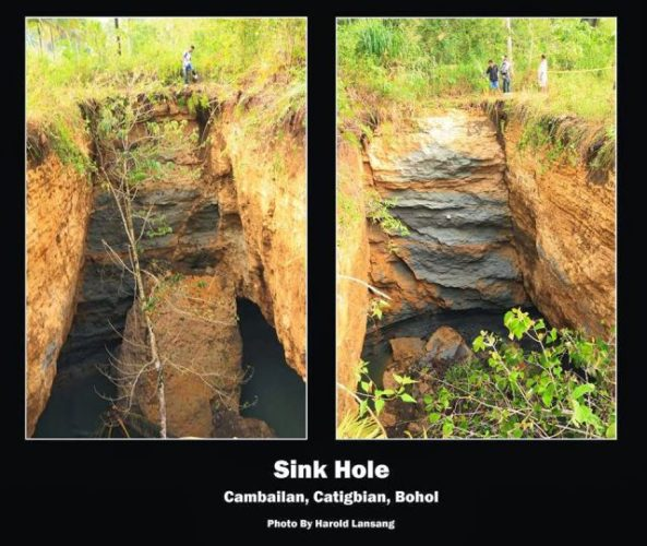 sinkhole swallows the Philippines after earhtquake, philippines sinkhole, philippines swallowed by sinkholes, philippines eathrquake scars: sinkhole, sinkhole news, news about sinkhole philippines, sinkhole philippines, sinkhole reports philippines