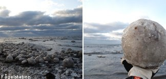 ice balls, mysterious ice balls, mysterious giant ice balls, giant ice balls, Mysterious giant ice balls discovered on Swedish coastline