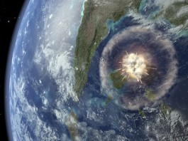 Chicxulub impact from space, how did life arise on Mars? how did life arise in the solar system, origin of life solar system, origin of life jupiter, origin of life mars, space mystery, how did life spread in the early solar system