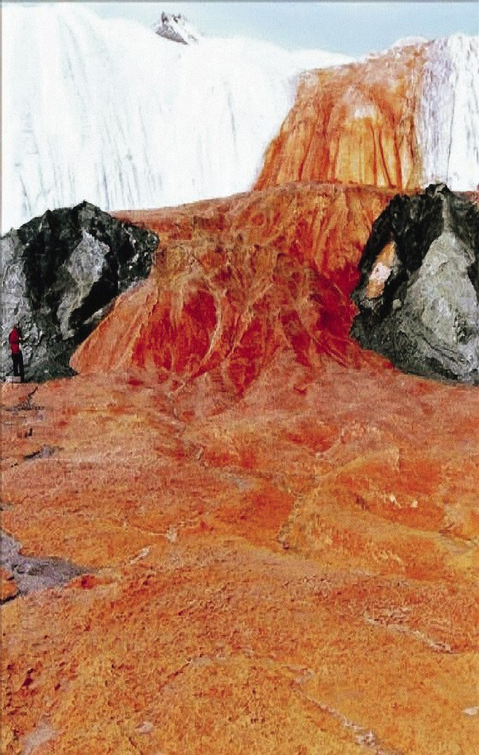 Blood Falls, Blood falls antarctica, Blood falls pictures, photo blood falls, taylor glacier blood falls, photo blood falls antarctica, anatarctica's blood falls, discover the amazing blood falls in anatarctica, alien landscape: blood falls, mysterious earth phenomenon: blood falls, blood falls alien mystery, Blood Falls in Antarctica, blood falls mysterious microbes