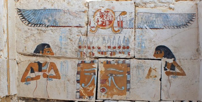 tomb of unknown pharaoh discovered in Egypt january 2014 Neith Nut deity, Neith Nut deity in new tomb of unknown pharaoh discovered in Egypt january 2014, new pharaoh tomb in egypt, unknown pharaoh discovered in Egypt tomb, new and unknown pahraoh is named Woseribre Senebkay, Woseribre Senebkay