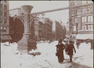 oldest extreme weather event videos, oldest us blizzard video, NY city first snowstorm footage in 1902, 1902: first video of blizzard in New York, first video of extremem weather in NY City in 1902, 1902 video of first blizzard in NY city, extreme weather events history, First Video of a New York City Snowstorm in 1902. Photo: The Museum of The City Of New York
