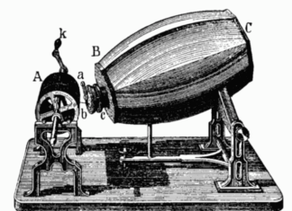 Phonautograph by Scott, Phonautograph by Scott. Photo: Wikipedia first record of human voice in 1860, when was human voice first recorded, human voice first record video