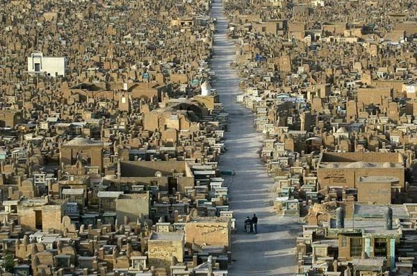 wadi al salaam cemetery or the valley of peace iraq najaf cemetery cemetery