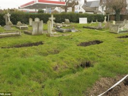 strange sinkhole phenomenon: graves swallowed in the ground in Gravesend, gravesend cemetery maysterious phenomenon, sinkhole swallows graves in cemetery, uk cemetery swallowed by sinkhole in UK, UK cemetery swallowed by sinkholes, strange earth phenomenon: sinkholes swallow graves in Gravesend cemetery, sinkholes swallows graves in Gravesend UK - February 2014