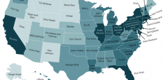 what music artists is popular in your state, What music is popular in your state?, This map shows what music is popular in your state. Photo: Paul Lamere, music state by state, a map of music in your states,map of the most popular music in each state, A map of music that's popular in your state, distinctive music artist per state, This map shows what music artist is popular in your state. Photo: Paul Lamere