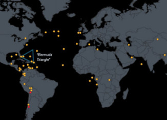 """map of All the aircrafts that have mysteriously vanished since 1948, map of mysteriously vanished plane around the world, All the aircrafts that have mysteriously vanished since 1948. Photo: Bloomberg, Where Could Malaysian Flight 370 Be?, where is Malaysian flight 370?, Dozens of Planes Have Vanished in Post-WWII Era, Some 83 aircraft have been declared """"missing"""" since 1948, large aircrafts disappearances and searches since 1948,"""