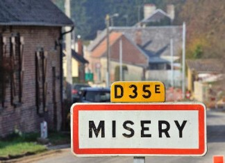 Misery France, FRANCE : Misery a village deprived of election, Misery a village deprived of election, no election in Misery, lol, lol news, funny news, strange news, strange french news, strange village names, strange city names, strange names of city, black humaor news, fun news, fun fact, This is the entrance sign of Misery, a small village in northern France, misery france, misery village français, pas de candidat à Misery en France, municipale: pas de candidat à Misery en France, Misery France has no candidate for the next election