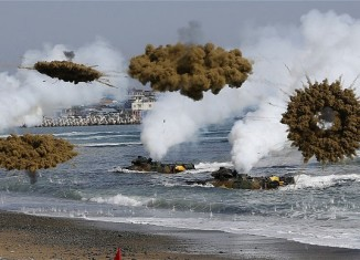 North corea earthquake april 2014, earthquake in North Corea april 2014, earthquake war northe corea april 2014, corea war games, north and south corea war games, North and South Korea traded fire into waters along the disputed Northern Limit Line