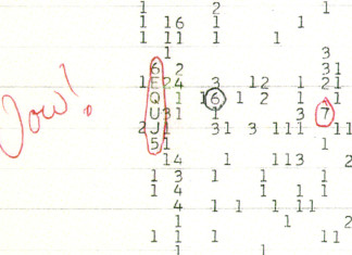 Wow signal, unexplaines sound: wow signal, strange sounds: wow signal, weird space sound: wow signal, wow signal unexplained noise, wow signal strange sounds, unexplained seti wow signal, wow signal record, wow signal record video, new wow signal detected by seti? Source: Wikipedia