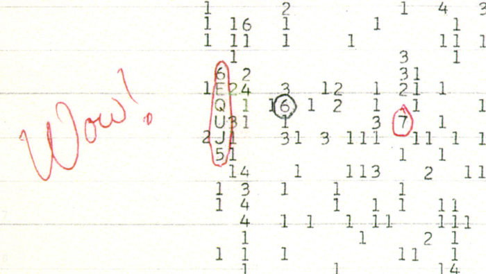 Wow signal, unexplained sounds: the wow signal, strange sounds: wow signal, weird space sound: wow signal, wow signal unexplained noise, wow signal strange sounds, unexplained seti wow signal, wow signal record, wow signal record video, new wow signal detected by seti? Source: Wikipedia