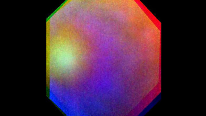 glory on venus, glory on planet venus photo, photo of glory on Venus, What is a glory?, 'Rainbow' on Venus captured by ESA, difference between glory and rainbow?, first time a glory is sighted outside planet earth, glory on Venus, This is what a full 'Glory' looks like. Photo: ESA, amazing space phenomenon Rainbow called Glory caught on Venus