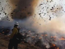 denver firenado march 2014 video, firenado video denver march 2014, Apocalyptic Dust Devil and Brush Fire Form Firenado at Denver Rocky Mountain Arsenal - March 14 2014