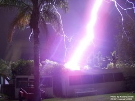 lightning, lightning photo, lightning image, wtf lightning, wtf lightning photo, wtf lightning video, terrifying lightning strike, terrifying lightning strike photo, terrifying lightning strike image, lightning strike photo, An amateur photographer in Australia took this out in his backyard one lightning storm (in Sydney I think). He got quite a bit of media coverage, and I think his hearing and eyesight recovered eventually.