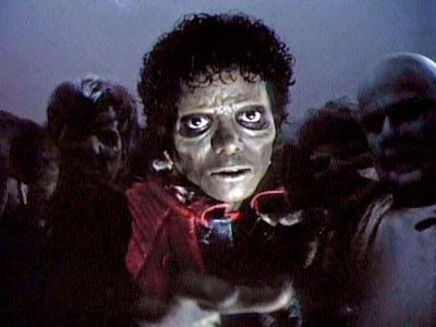 thriller MJ, michael jackson thriller, thriller Mickael Jackson, michael jackson's thriller, thriller zombie michael jackson, michael jackson zombie video thriller, zombie video thriller michael jackson, jackson zombie thriller, michaelMichael Jackson as a zombie in Thriller music video clip