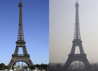 paris smog, photo of paris smog march 2014, eiffel tower in smog in Paris march 2014, photo smog france march 2014, france smog, tour eiffel smog, paris smog 2014, paris smog march 2014, paris smog photo march 2014, smog in paris march 2014, smog eiffel towr paris march 2014, smog Paris Tour Eiffel before and after, Before and after photo of the Tour Eiffel with and without smog, photo smog france 2014, picture smog France march 2014, smog France news march 2014