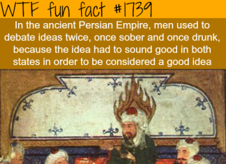 strange fact, strange facts persians, wtf facts persians, wtf and fun facts, persian, drunk, persian customs sober and drunk, persian sober and drunk ideas, debating ideas persians sober and drunk, strange and fun customs of persian people, Sober and drunk: Ancient persians used to debating ideas in both states before taking a decision