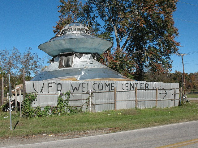 ufo, ufo center, ufo welcome center, ufo us, us ufo welcome center, alien, alien welcome center in Bowman SC, alien center Bowman SC, alien welcome center in the USA, Alien welcome center South Carolina, ufo welcome center entrance by Jody Pendarvis