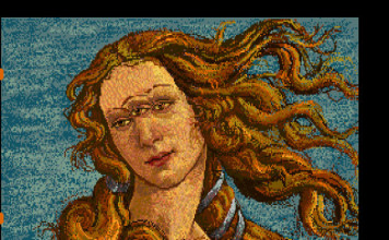 Andy Warhol's Venus with three eyes discovered on an Amiga disk. Photo: Andy Warhol museum, new andy warhol art, amiga andy warhol, andy warhol amiga disk, amazing art discovery: andy warhol art found on amiga disk, amazing art discovery: andy warhol amiga discovery, andy warhol new art treasure, art treasure: andy warhol amiga experiments, Andy Warhol venus with three eyes, Andy Warhol's Amiga Experiments