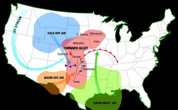 tornado alley map, map of tornado alley, tornado alley usa, where is tornado alley,