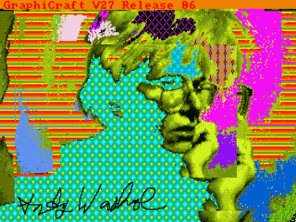 New andy warhol self-portrait found on amiga disks. Photo: Andy Warhol Museum, new andy warhol self-portrait found on amiga disks, new art work from andy warhol discovered on amiga disk, Andy Warhol's Venus with three eyes discovered on an Amiga disk. Photo: Andy Warhol museum, new andy warhol art, amiga andy warhol, andy warhol amiga disk, amazing art discovery: andy warhol art found on amiga disk, amazing art discovery: andy warhol amiga discovery, andy warhol new art treasure, art treasure: andy warhol amiga experiments, Andy Warhol venus with three eyes, Andy Warhol's Amiga Experiments
