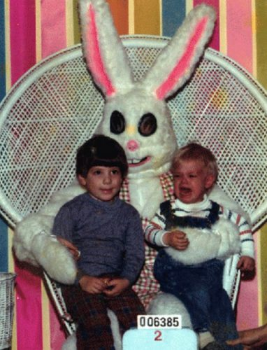 creepy easter bunny photo, Happy Easter: Creepy easter bunny put children in fear and terror